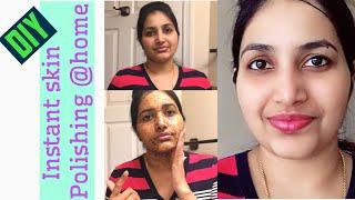 Download DIY: Instant Skin Polishing @Home In Telugu || Get Radiant, Glowing & Clear Skin || Shruthi Diaries Video