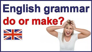 Download When to use ″do″ and ″make″ | English grammar lesson Video