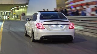 Download Decatted Mercedes-AMG C63S - LOUD BURNOUTS! Video