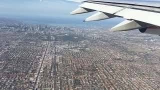 Download Flying - Landing Into Melbourne's Tullamarine Airport From LAX Onboard A QANTAS A380 Video