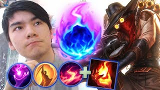 Download NEW KEYSTONE ON JHIN MID ! FULL EARLY GAME DAMAGE CHEESE ! ARCANE COMET BURST DAMAGE BUILD Video