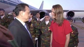 Download Chinese premier arrives in Belgium for working visit, ASEM summit Video