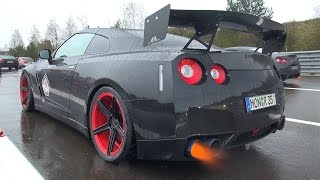 Download 1500HP NISSAN GT-R R35 SHOOTING FLAMES! Video