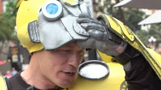 Download John Cena Surprises Fans as Bumblebee - Comic Con 2018 Video