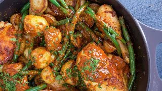 Download Rachael's Spicy Honey Mustard Chicken with Potatoes and Green Beans Video