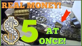 Download Real Money Win Arcade Coin Pusher $20 Challenge $5 At Once! Arcadejackpotpro Video