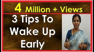 Download 3 TIPS TO WAKE UP EARLY MORNING Video
