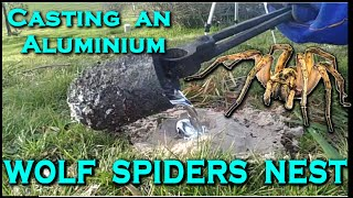 Download Casting a TRAPDOOR / WOLF SPIDERs nest out of MOLTEN ALUMINIUM! - Creating the cthulhu tentacle Video