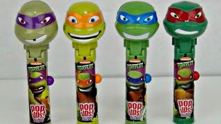 Download TEENAGE MUTANT NINJA TURTLE TMNT Lolli Pop Ups with Batman, Superhero IRL Toy Surprises / TUYC Video