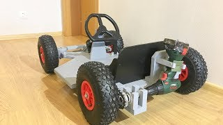 Download DIY Drill powered Go Kart Video
