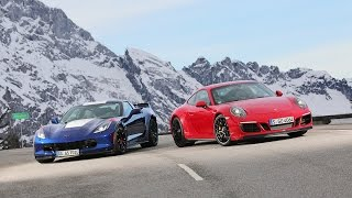 Download Porsche 911 Carrera GTS vs Corvette Grand Sport Track Battle sport auto Video