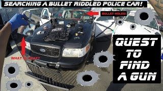 Download Searching A Bullet Riddled Police Car! Ford Crown Victoria Cop Auto Explore Video