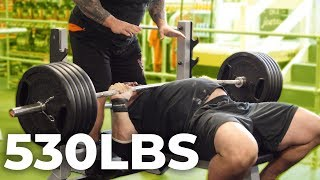 Download 530LB BENCH PRESS WITH EDDIE HALL AND NICK BEST Video