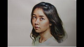 Download watercolor portrait tutorial - Kim So Hyun Video