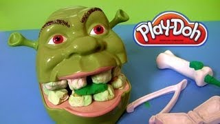 Download Play Doh Shrek 2 Rotten Root Canal Playset Dentist Dr Drill N Fill Play Dough Comparison toys Review Video