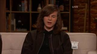 Download Talking Dead - Chandler Riggs on his eye prosthetic Video