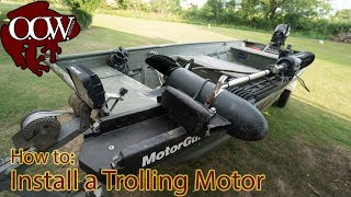 Download How To Install Trolling Motor Jon Boat (No Custom Mounting Plates)- OOW Outdoors Video