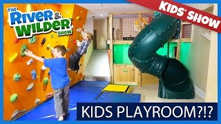 Download KIDS PLAYROOM WITH INDOOR SLIDE AND CLIMBING WALL | KIDS TV Video