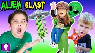 Download UFO Blaster VIDEO Game Play and Nerf Surprises with HobbyKidsTV Video