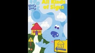 Download Closing to Blues Clues All kinds of signs 2000 VHS Video
