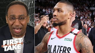 Download Damian Lillard's game-winning 3 vs. OKC may be the best I've ever seen - Stephen A. | First Take Video