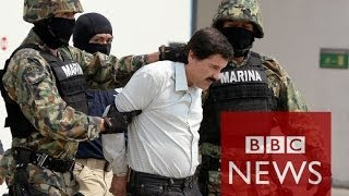 Download World's 'most wanted' drug lord - Joaquín Guzmán - arrested in Mexico - BBC News Video