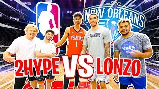 Download 2HYPE vs. Lonzo Ball - Who's the BEST SH00TER? *Half-Court Buzzer* Video