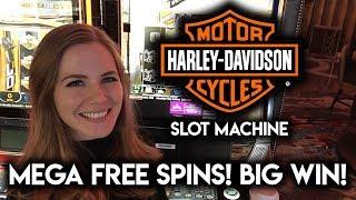 Download BIG WIN! MEGA FREE GAMES! Harley Davidson Slot Machine!!! Video