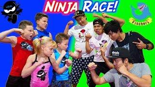 Download American Ninja Warrior vs Japan Ninja Warrior Race! Video