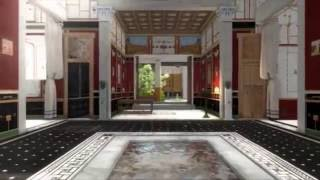 Download Walk around in a 3D splendid house from the ancient Pompeii Video