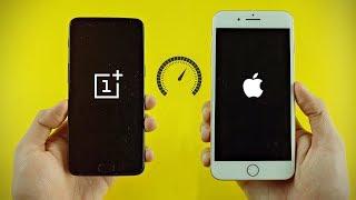 Download iPhone 8 Plus vs OnePlus 5 8GB RAM - Speed Test! (4K) Video