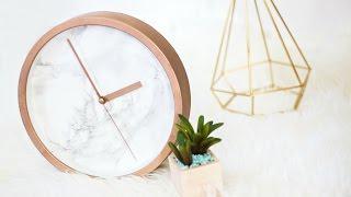 Download DIY Rose Gold Marble Clock Video