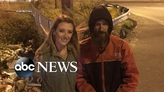 Download Young woman repays homeless veteran who used last $20 to buy her gas Video