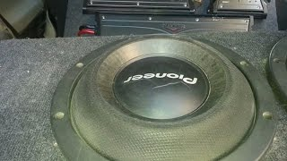 Download 1400 Watt Rms Of Bass SPL 2Pioneer Subwoofer Ts-w2000SPL Video