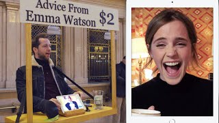 Download Emma Watson Gives Strangers Advice for $2 at Grand Central | Vanity Fair Video