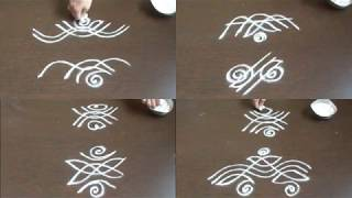 Download 8 small side border kolam without dots  kolam side designs for learners Video
