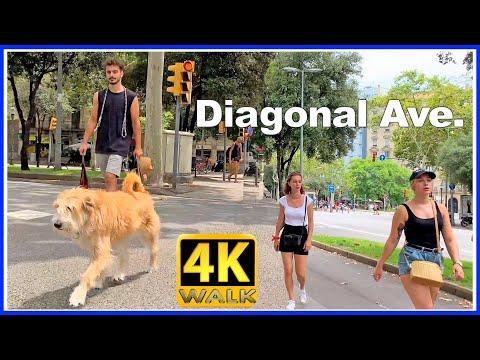 【4K】WALK BARCELONA Spain 4K video TRAVEL vlog Av. Diagonal