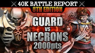 Download Astra Militarum vs Necrons Warhammer 40K Battle Report NO MERCY! 8th Edition 2000pts | HD Video