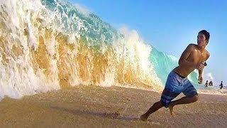 Download Big and Crazy Shorebreak! Video