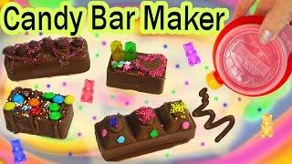 Download CHOCOLATE CANDY BAR Maker Kit Set REAL FOOD Sprinkles Cookie Dough Gummy Bears Baker Moose Toys Video