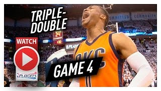 Download Russell Westbrook Game 4 Triple-Double Highlights vs Rockets 2017 Playoffs - 35 Pts, 14 Ast, 14 Reb Video