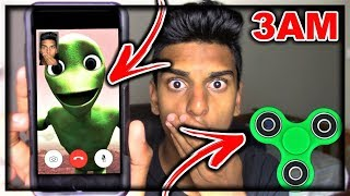 Download DO NOT FACETIME DAME TU COSITA ALIEN WHEN SPINNING A FIDGET SPINNER AT 3AM!! *THIS IS WHY* Video