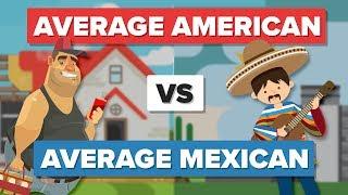 Download Average American vs Average Mexican - People Comparison Video