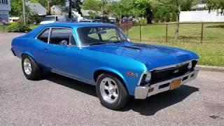 Download Restored 1969 Chevrolet Nova SS For Sale~Marina Blue~454 Motor with Mild Cam Video