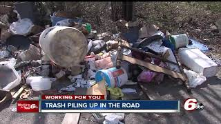 Download Trash piling up is a major concern in Indianapolis neighborhoods Video