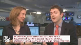 Download NewsHour's politics team breaks down Sean Spicer's press briefing Video
