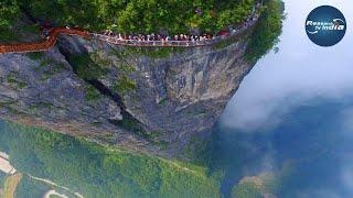 Download आखिर मिल गया स्वर्ग। इस पहाड़ पर चढने की हिम्मत है क्या|Tianmen Mountain| Video