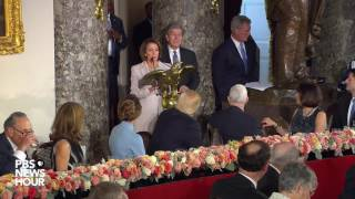 Download Pelosi, Schumer and Blunt bestow inaugural gifts on President Donald Trump Video