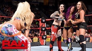 Download The Riott Squad attack Bayley and Sasha Banks: Raw, April 16, 2018 Video