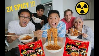 Download 2X KOREAN NUCLEAR FIRE NOODLE CHALLENGE (HAPPY END OF RAMADAN) Video
